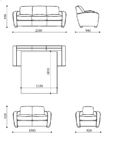 Схема мягкой мебели Пино.