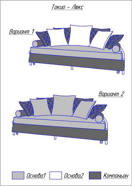 размер дивана-205х105х42