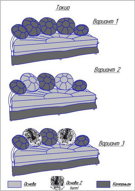 Схема обивки кровати